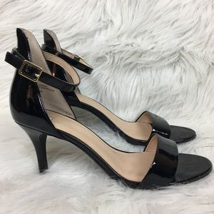 BP Black Panther Leather Heels Size 9M Strappy